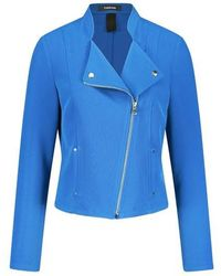 Taifun Biker-style Blazer Jacket Blue