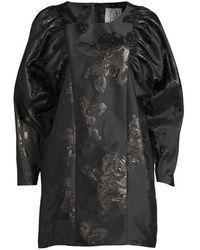 Zoe Karssen Sleeve Short Dress Black