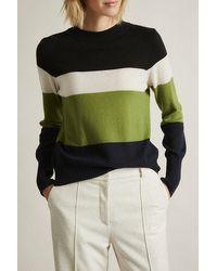 Lanius Colourblock Pullover - Black Multicolour 34 Black Multicolou