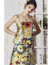 OKY Mikado Fabric Top Amarillo - Multicolour