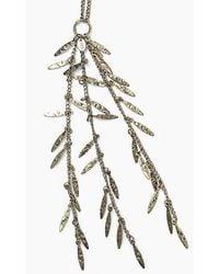 IKKS Bead Drop Antique Gold Long Necklace Gold - Metallic