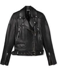 Zoe Karssen Janey Leather Biker Jacket Black