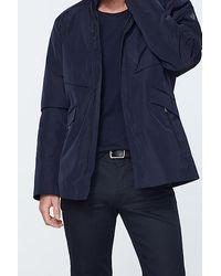 IKKS Navy Waterproof Nylon Safari Jacket - Blue