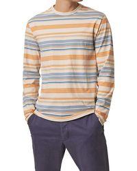 French Connection Yura Stripe Long Sleeve T-shirt Moonmeam Grey Multi