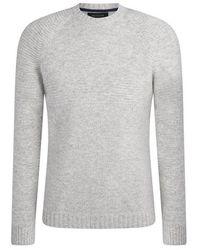 NAADAM Multi Stitch Crewneck Pullover Cement - Gray
