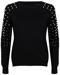 EsQualo Jumper Pearls Black