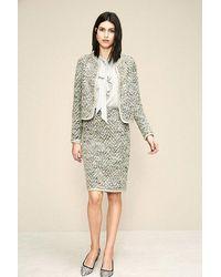 OKY Herringbone Wool Jacket Beige - Natural