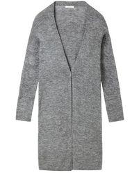 Sandwich Cardigan Long Sleeves Steel - Grey