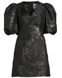 Zoe Karssen Puff Mini Dress Black