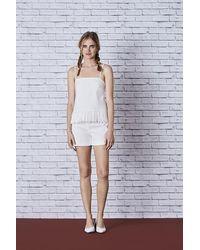 OKY Jacquard Top Blanco - Multicolour