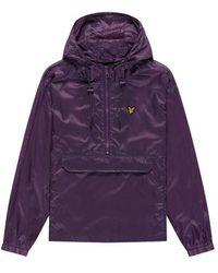 Lyle & Scott Ripstop Overhead Jacket Dark Thistle - Purple