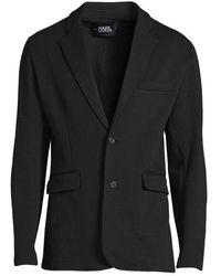 Karl Lagerfeld - Sweat Suit Jacket Black - Lyst