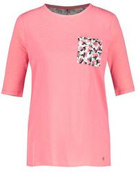 Gerry Weber Top With A Back Print Pink