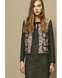 OKY Colored Lace Jacket Rosa-gris-azul - Multicolour