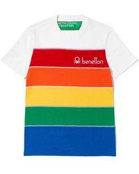Benetton T-shirt_white White - Multicolour