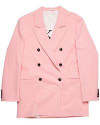 Zoe Karssen Mae Oversized Double Breasted Blazer Bubblegum - Pink