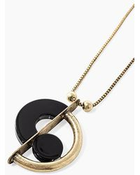 IKKS Antique Gold Art Deco-look Long Necklace Gold - Metallic
