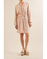 Lanius Kleid Mit Streifen Shellmulticolor - Natural