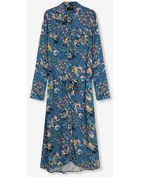 Alix The Label Ladies Woven Western Flower Tunic Dress Sapphire Blue