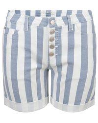 EsQualo Short Jeans Striped Blue / White