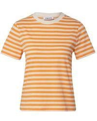 EDITED Leila T- Shirt Orange, White