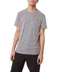 French Connection Melange Tri-blend Jersey T-shirt Dusty Blue Melange - Grey