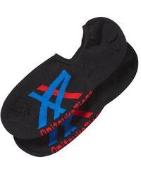 Onitsuka Tiger Invisible Socks Performance Black/asics Blue
