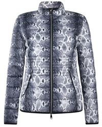 Taifun Quilted Jacket With A Black Print Snakeskin