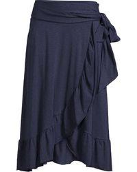 Sandwich Skirt Jersey Medium Navy - Blue