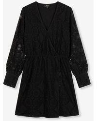 Alix The Label Ladies Woven Lace Dress Black