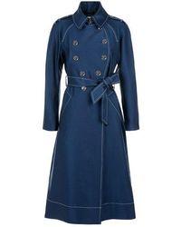 Temperley London Matilde Tailored Coat Petrol - Blue