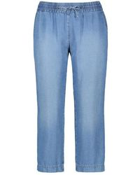 Gerry Weber Loose Easy Fit Trousers Made Of Lyocell Blue