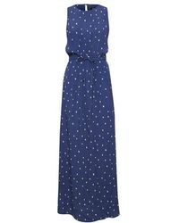 Soaked In Luxury Slalaya Maxi Dress Twilight Blue Print