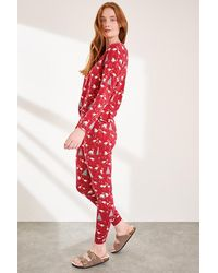 White Stuff Lucy Jersey Pj Bottoms Red Mlt