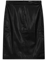 Sandwich Skirt Woven Casual Medium Black