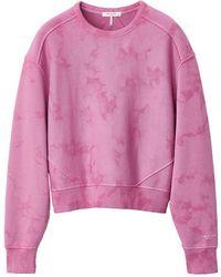 Rag & Bone City Tie Dye Sweatshirt Fua - Pink