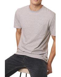 French Connection Micro Twin Stripe T-shirt White/grey Stripe