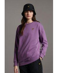 Lyle & Scott Oversized Sweatshirt Dark Thistle - Purple
