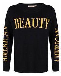 EsQualo Jumper Intarsia Beauty Black / Ochre