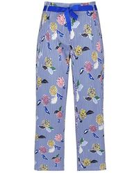 Gerry Weber Culottes With A Mixed Pattern Multi-colored - Blue