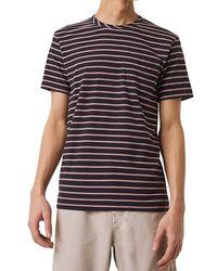 French Connection Kuma Stripe T-shirt Utility Blue