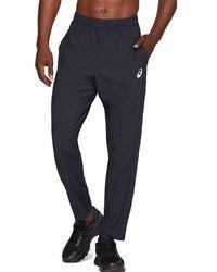 Asics Sport Woven Pant Grey/silver - Blue
