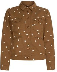 FABIENNE CHAPOT Cyprus Jacket Toffee Brown/off-whi