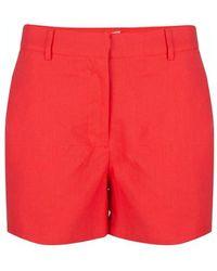 EsQualo Short Linen Solid Red