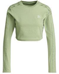 adidas Loungewear Cropped Long Sleeve Jumper Green