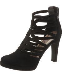 Tamaris High-Heel-Stiefelette im sommerlichen Design - Schwarz