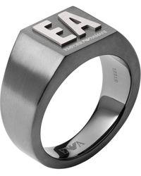 Emporio Armani Fingerring - Grau