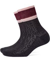 Burlington Socken Happy New Year (1 Paar) - Schwarz