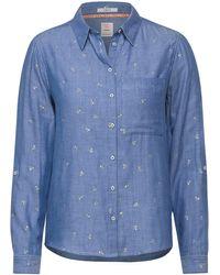 Cecil Hemdbluse mit geometrischem Muster - Blau