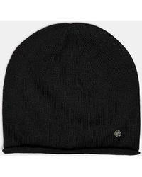 Esprit Strick-Mütze aus 100% Baumwolle - Schwarz